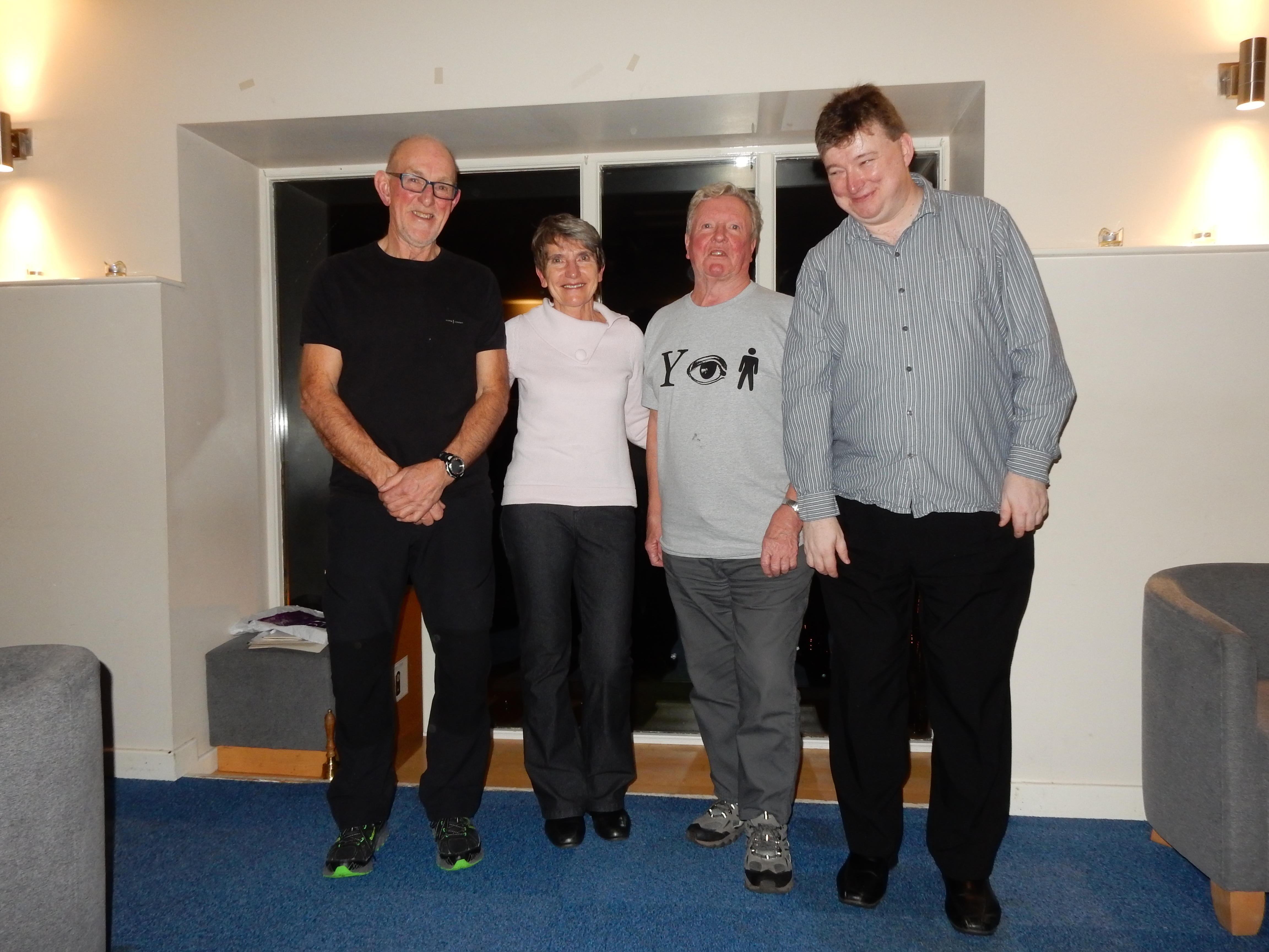 Linda, Peter Lee (Secretary), Jim Fay (Treasurer), Ian Lockey (past Secretary)